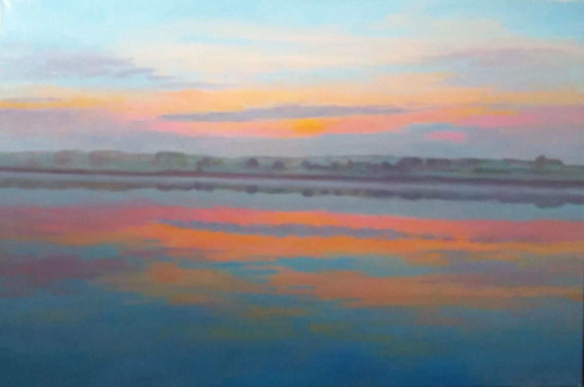 Sunset over the RiverColne